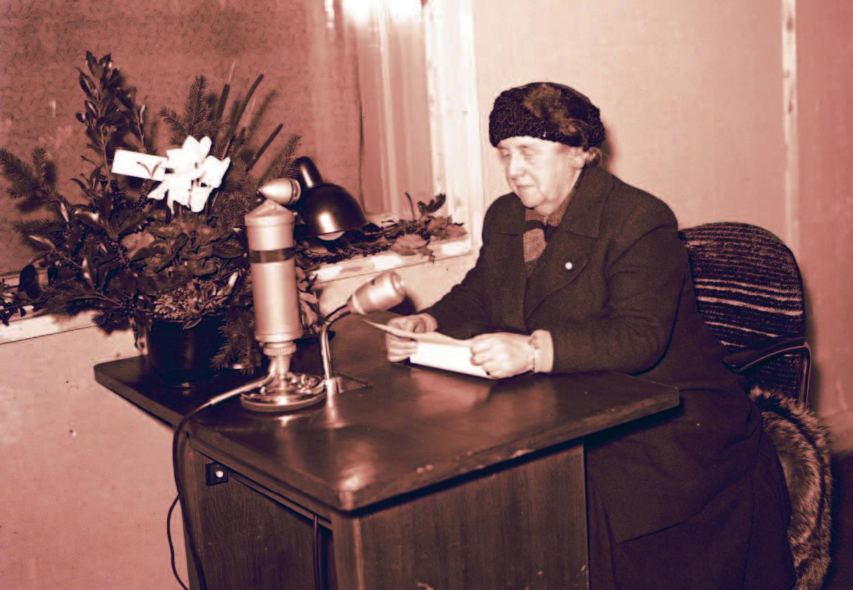 Radio oranje . Wilhelmine, reine des Pays-Bas en 1942
