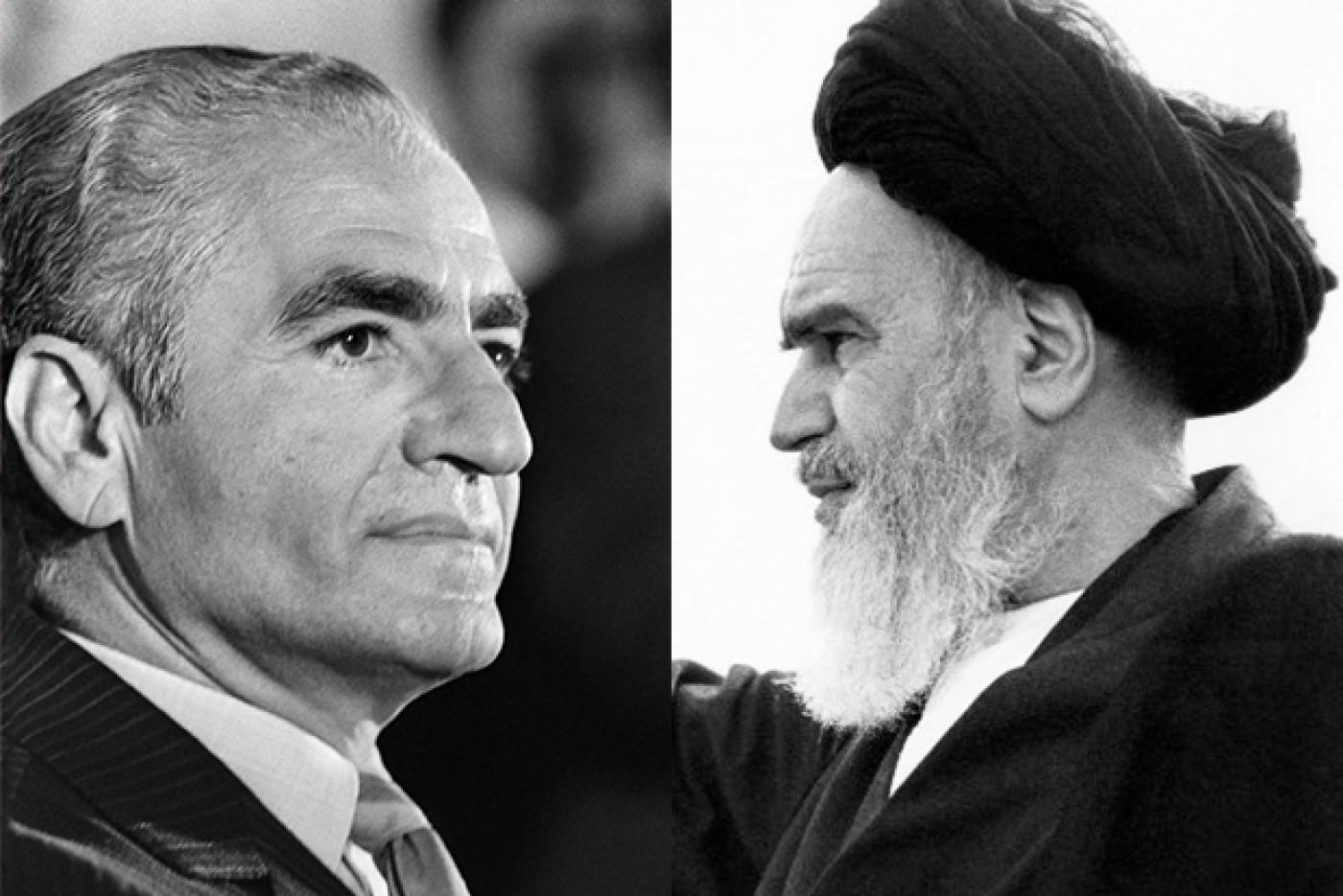 Reza pahlavi et l ayatollah khomeyni