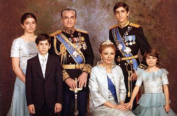 Reza shah et sa famille