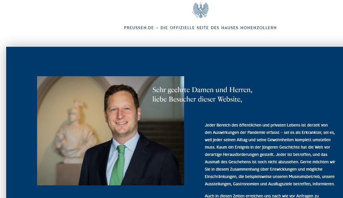 Site officiel de la maison imperiale des hohenzollern