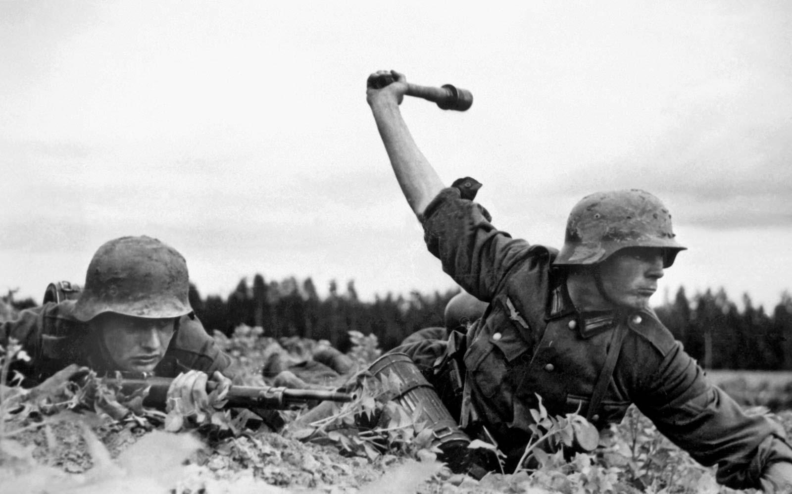 Soldats allemands de loperation barbarosa