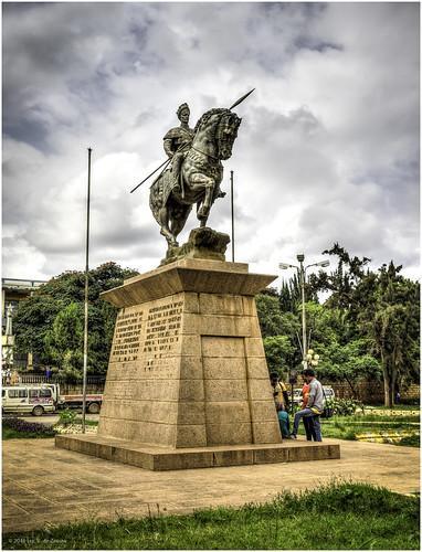 Statue du ras makonnen pere du dernier negus