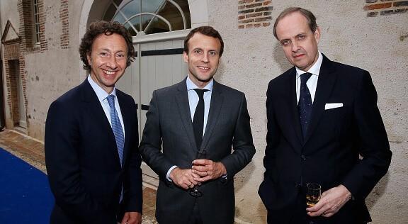 Stephane bern emmanuel macron et le prince jean d orleans