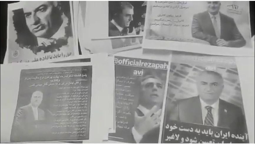Tracts en iran en faveur du prince reza shah ii