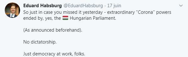 Tweet du prince edouard de habsbourg lorraine
