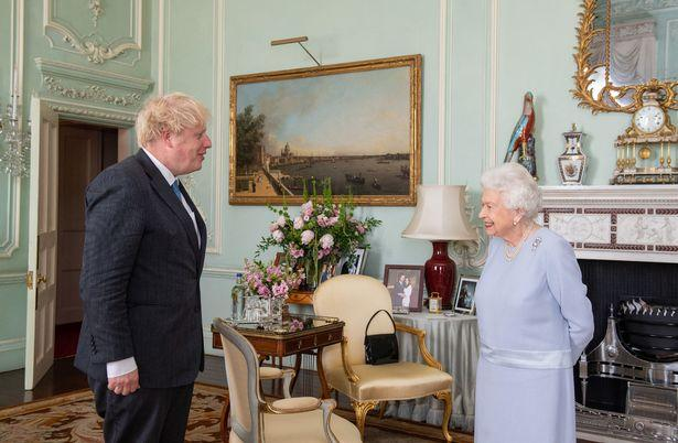 Boris Johnson et la reine Elizabeth II