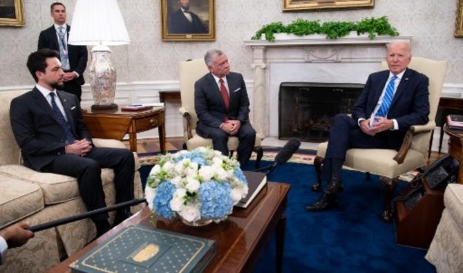 Prince Hassan, Abdallah II et Joe Biden