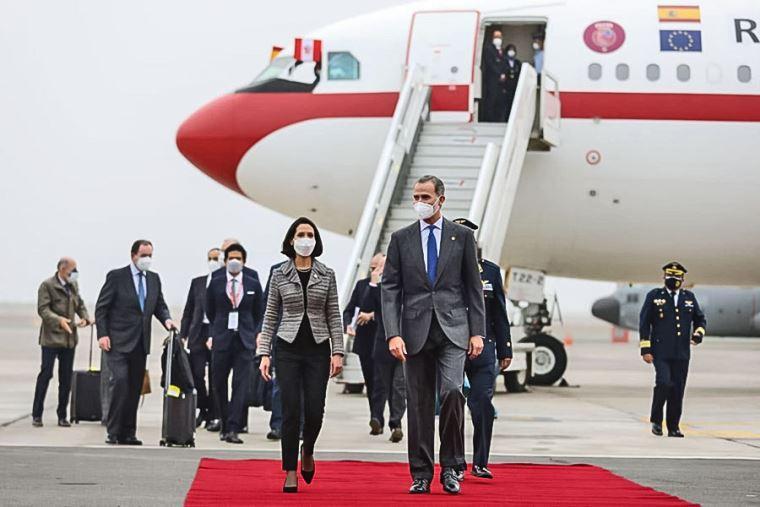 Le roi Felipe VI arrive à Lima photo@ElPeruano