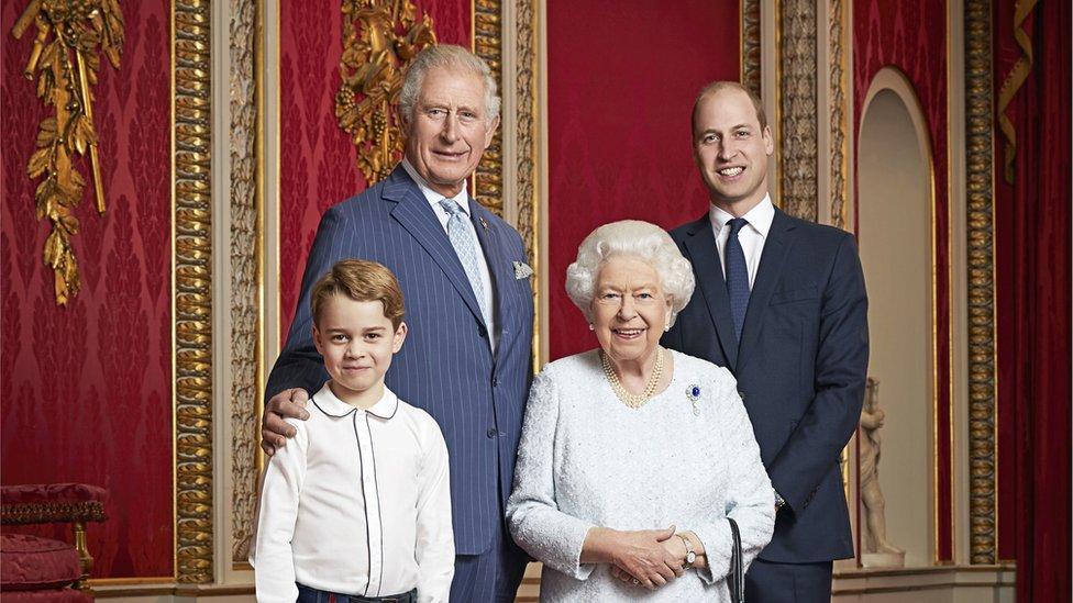 Charles, William, George, Elizabeth II