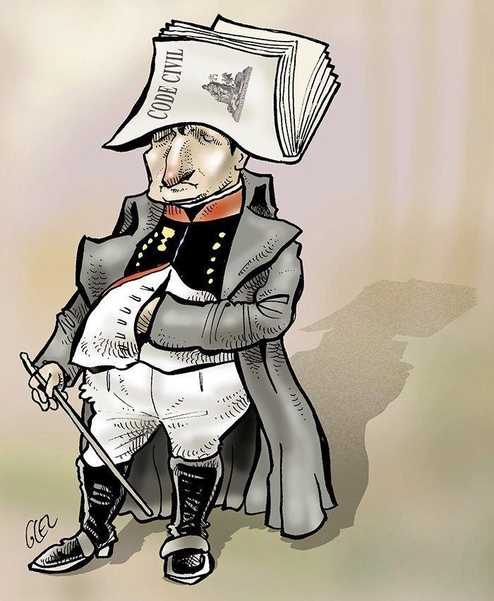 Caricature Napoléon Ier