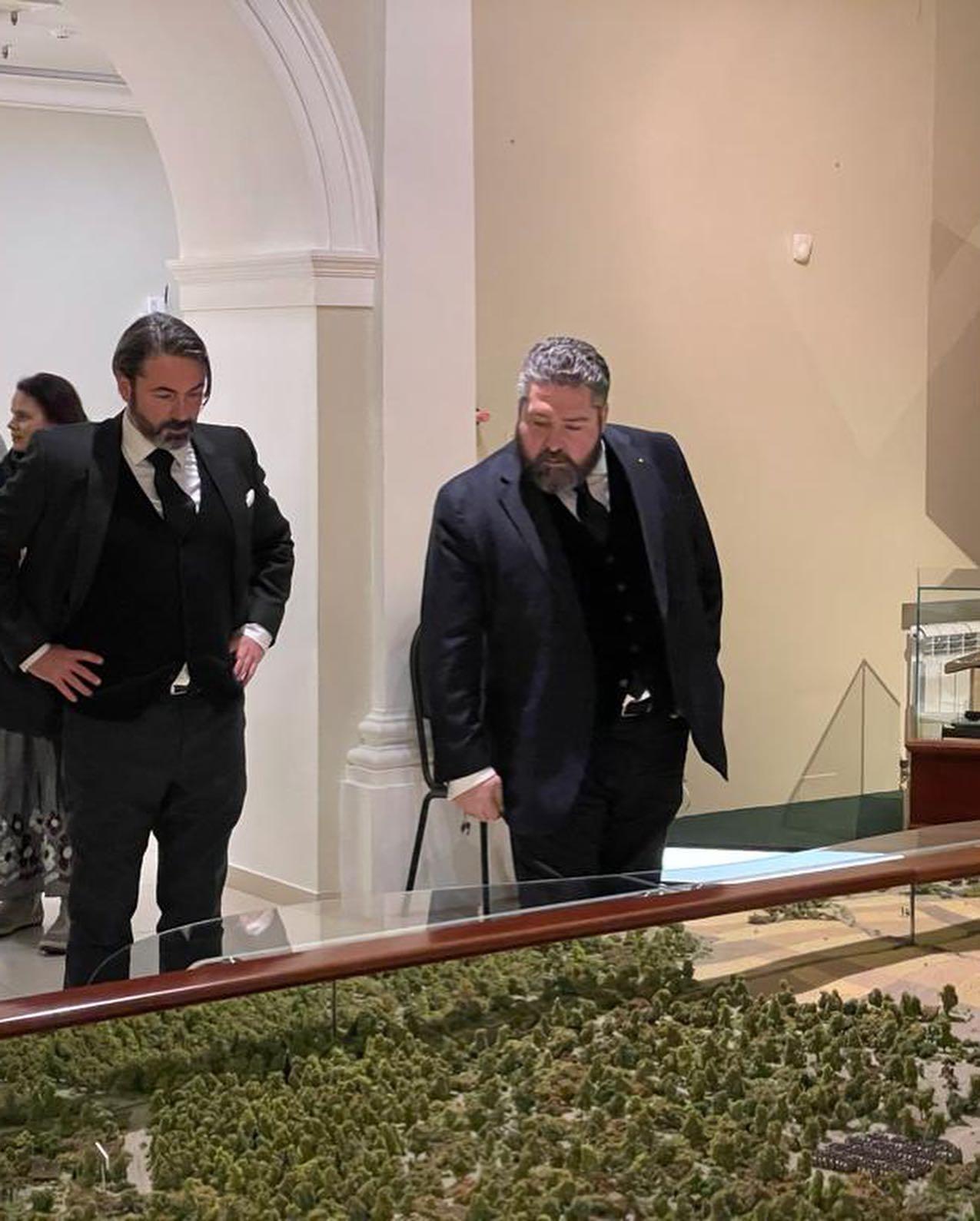 Le prince Murat et le Grand-duc Georges Romanov