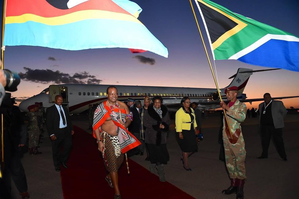 le roi Mswati III en Afrique du Sud