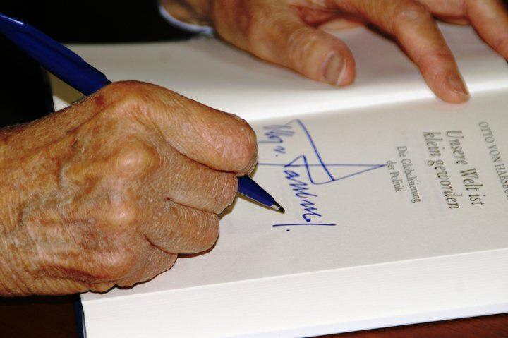 Signature d'Otto de Habsbourg.