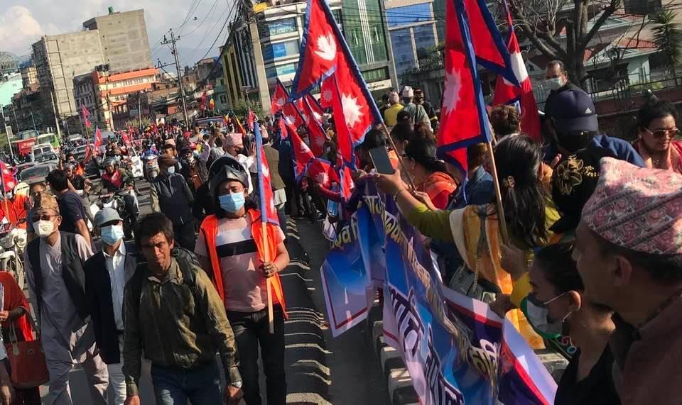 Manifestation en faveur de la monarchie au Népal