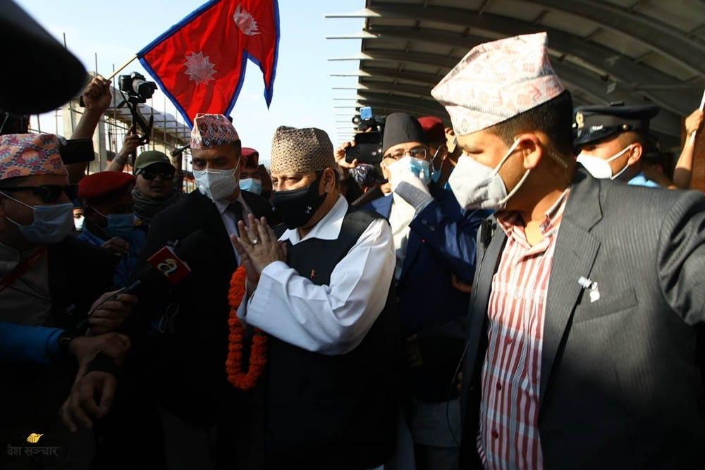 Arrivée du roi Gyanendra en Inde