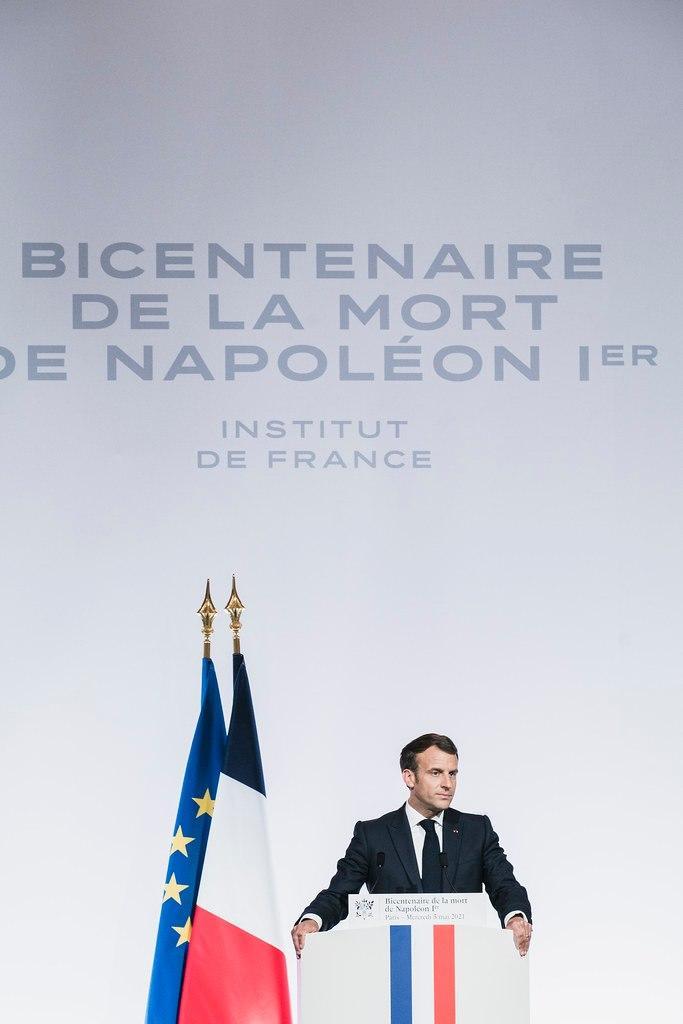 Emmanuel Macron à l'Institut de France. Photo@Palais de l'Elysée