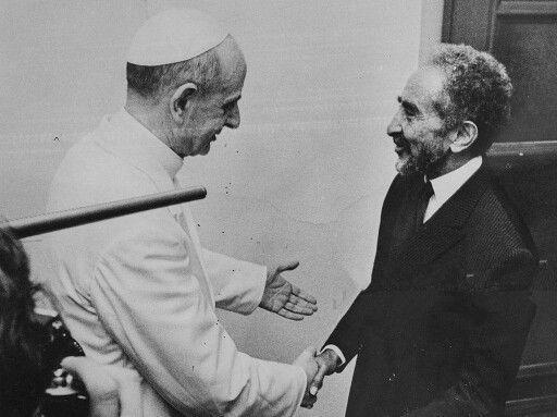Paul VI et le négus Hailé Selassié