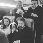 Le grand duc Georges, Rebecca Bettarini, son père l'ambassadeur Roberto Bettarini  Droits réservés