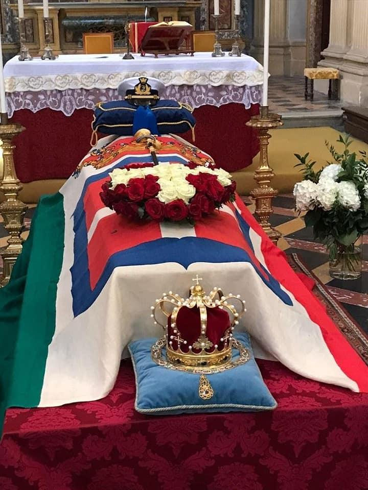 Cercueil du prince Amedeo de Savoie -Aoste
