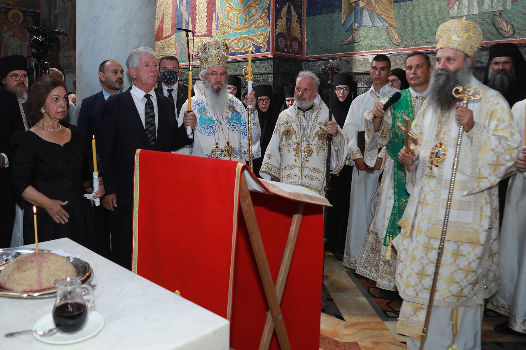 Le prince Alexandre et le patriarche Porphyre