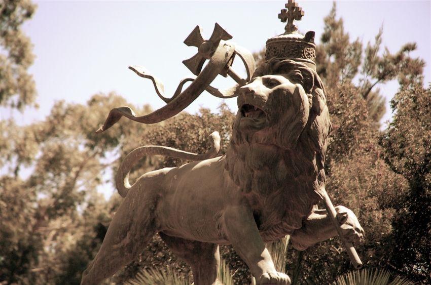 Lion de Judah, emblème de l'empire à Addis Abeba