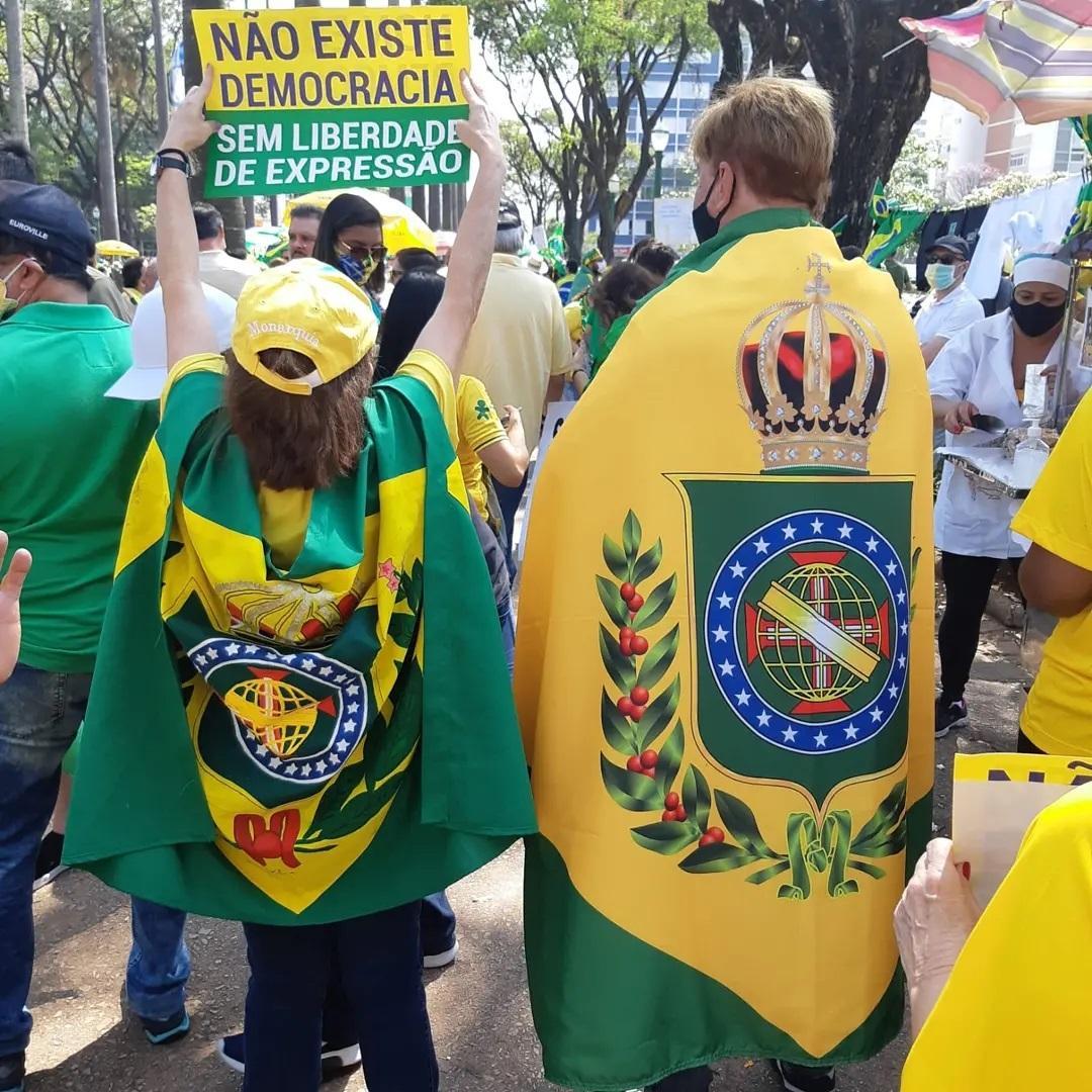 Monarchistes brésilien le 7 septembre 2021