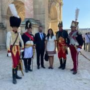 Le prince Joachim Murat et son épouse Yasmine à Paris