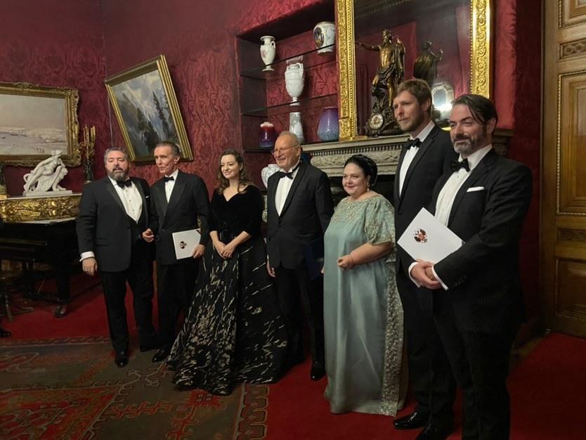 Les princes Joachim Murat et Leka d'Albanie décorés @droitsréserés