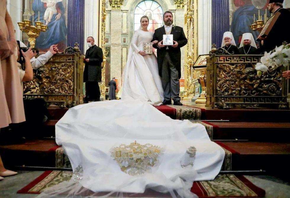Mariage religieux du grand-duc Georges Romanov et de Rebecca Bettarini