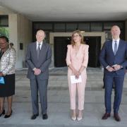 Siméon II aux côtés de la ministre des Affaires étrangères