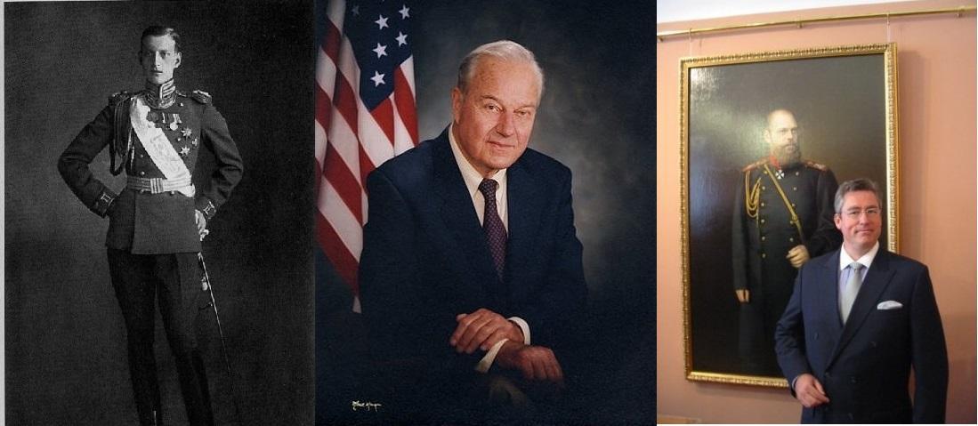 3 générations de Romanov Ilyinsky : de gauche à droite, Dimitri, Paul et Michel