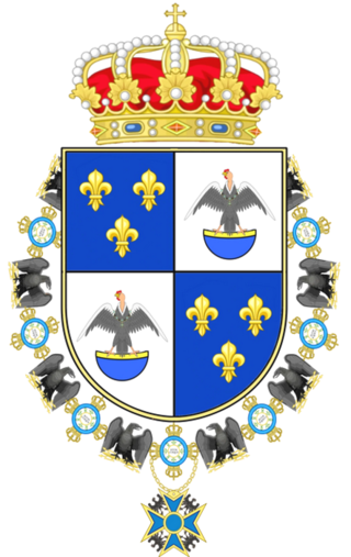 Armoiries du prince Agustín Muñoz y Borbón