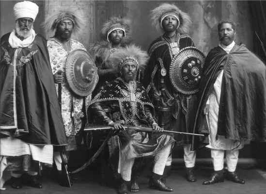 Ras éthiopiens à  Adoua