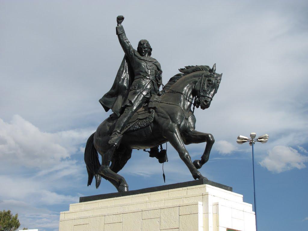 Statue équestre de  Jose Gabriel Tupac Amaru II