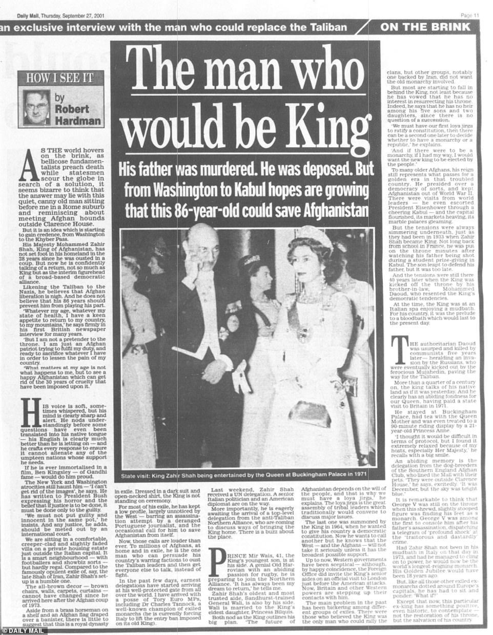 Le retour de la monarchie annoncée