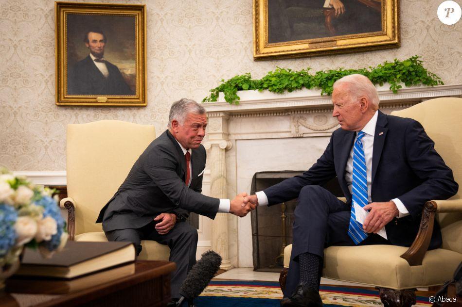 Abdallah II et Joe Biden Photo@PurePeople