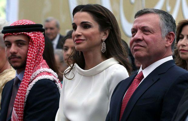 Hussein, la reine Rania et le roi Abdallah II