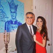 Reza Shah Pahlavi  et sa fille Noor