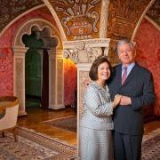 Le prince Alexandre de Serbie et son épouse.