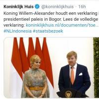 Le roi et la reine des Pays-Bas en Indonésie