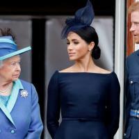 Elizabeth II, Meghan Markle et le prince Harry