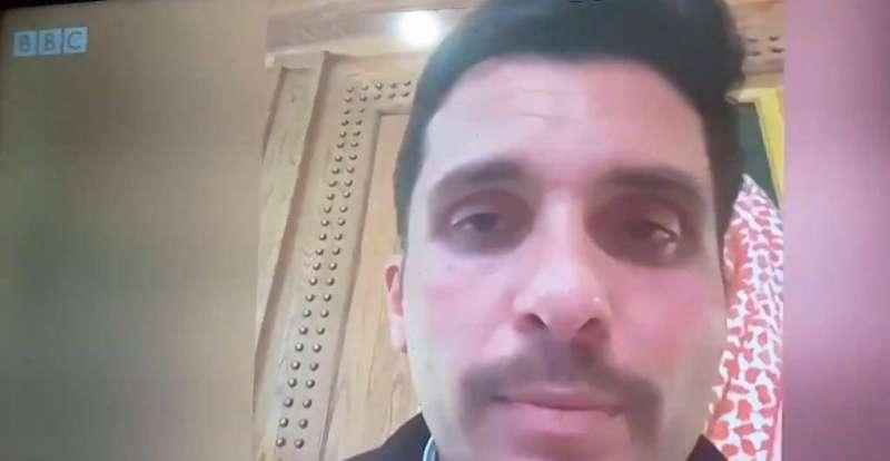 Le prince Hamzah dans sa vidéo adressée à la BBC