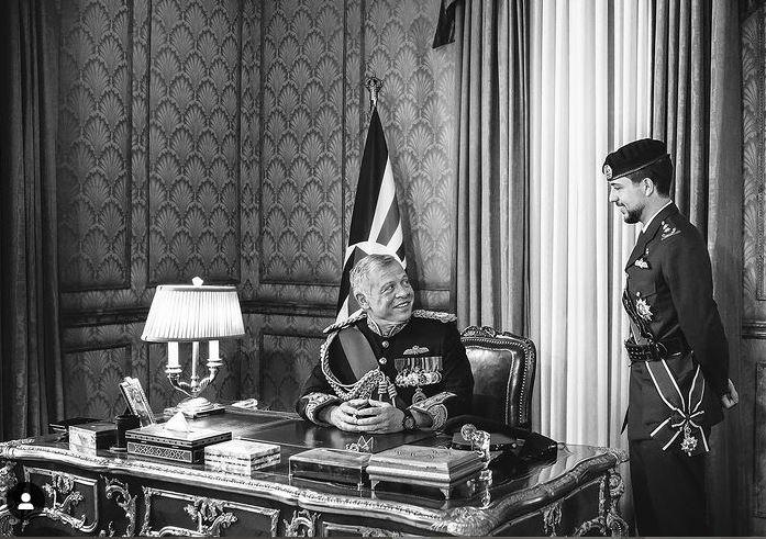 Abdallah II et le prince héritier Hussein