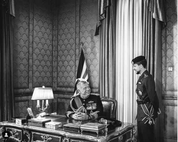 Abdallah II et son fils Hussein