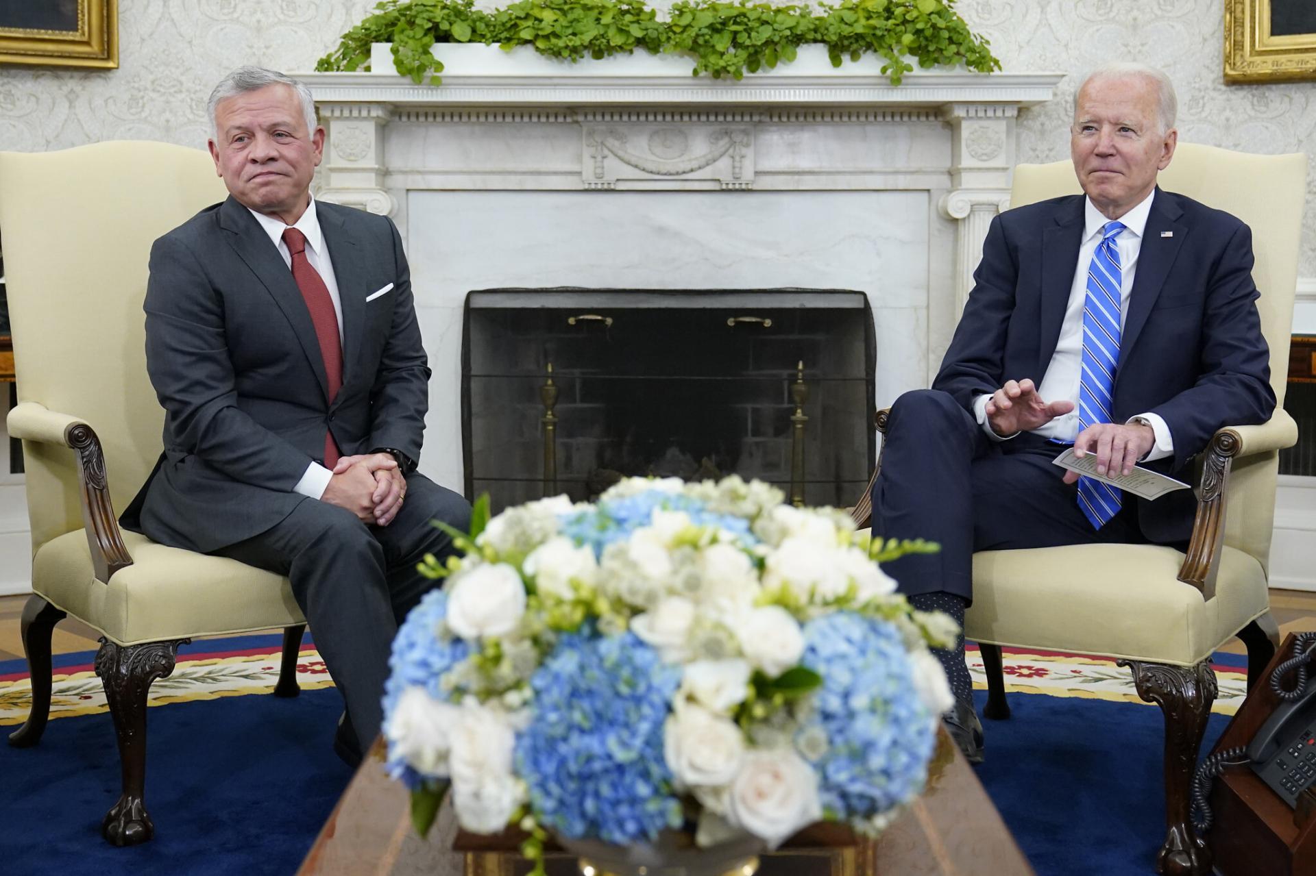 Abdallah II et Joe Biden