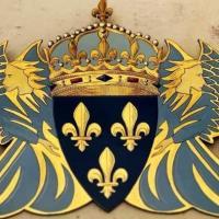 Blason du comte de Paris au château d'Amboise
