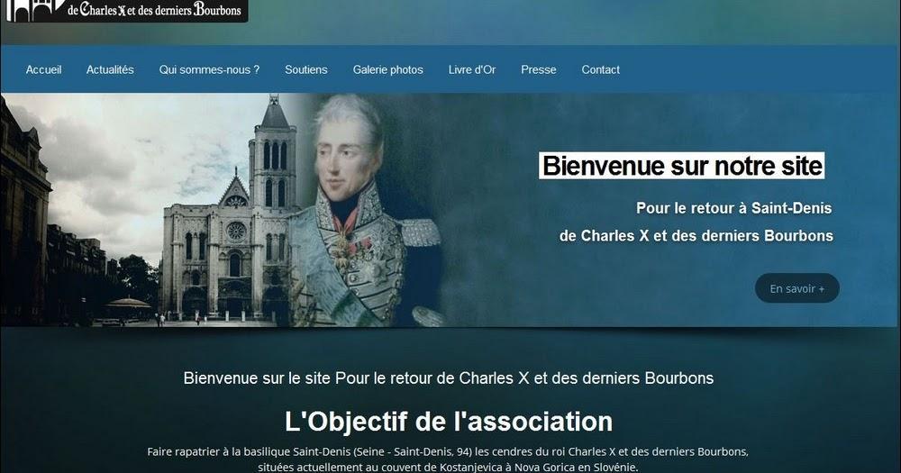 Capture site officiel de l'association pour le Retour de Charles x