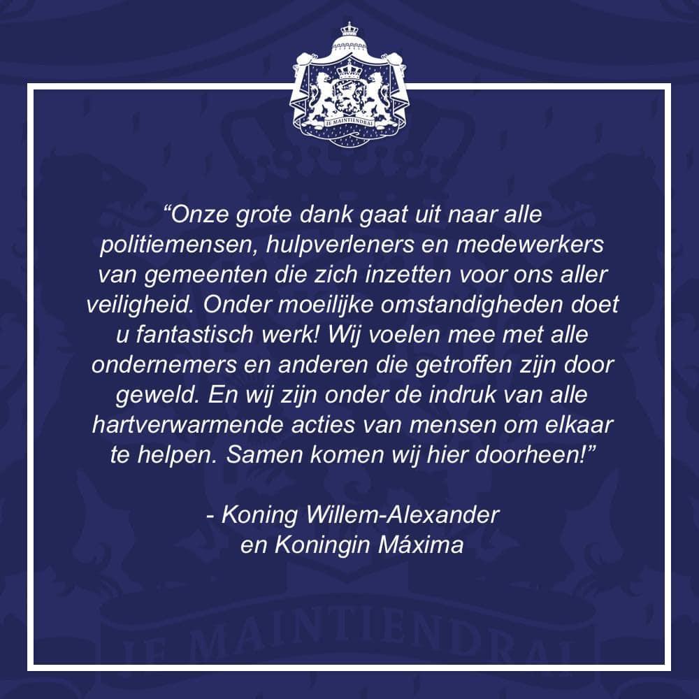 Communique du palais royal