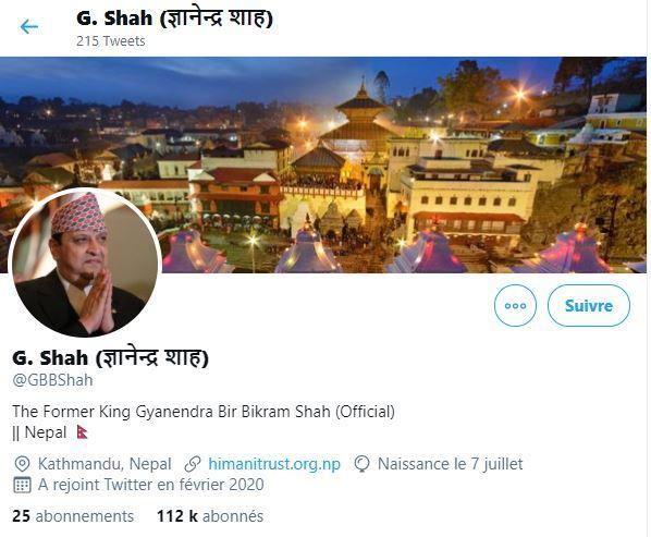 Compte twitter de gyanendra shah