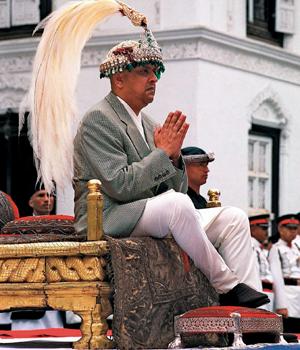 Couronnement de gyanendra shah